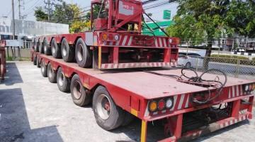 รถพ่วงแบบโมดูลา ( MODULAR TRAILERS ) เพลาเล็ก น้ำหนักบรรทุก 8 ตัน